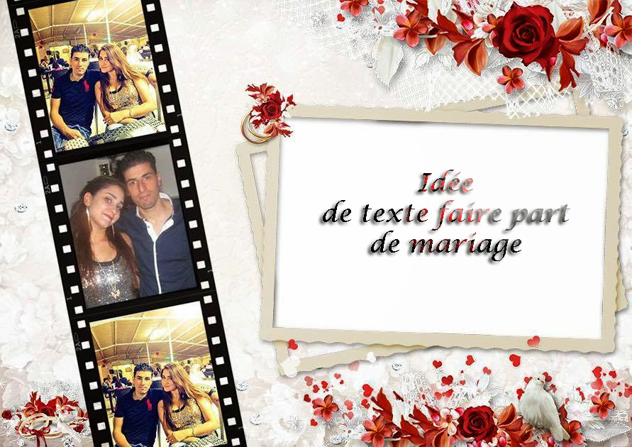 id es de texte faire part de mariage invitation mariage carte mariage texte mariage. Black Bedroom Furniture Sets. Home Design Ideas
