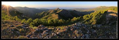 Рассвет у перевала Горуча. Панорама