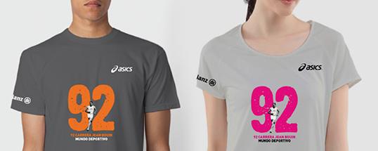 Camiseta técnica ASICS de la 92 Jean Bouin