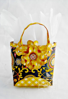 Template - Creations by AR Haute Tote with Flower from the Tissue Pot, Designer Lisa Somerville