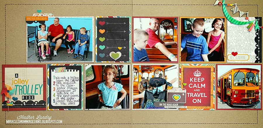Trolley Ride_Scrapbook Page_4x4 Photos_Instagram