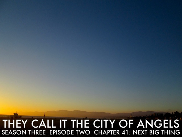 "BUREAU of Arts and Culture Magazine presents The New Fiction Project 2015: They CALL IT The City of ANGELS SEASON THREE . Episode TWO . Chapters 40 / 41 / 42 / 43 / 44 By Author Joshua Triliegi . An Improvised Novel    [ SCROLL DOWN FOR THE FREE SUMMER EDITION LINKS ]  The Original Fiction Series: "" THEY CALL  IT  THE  CITY  OF  ANGELS,"" began two years ago with Season One. An interesting experiment that originally introduced five fictional families, through dozens of characters that came to life before our readers eyes, when Editor Joshua Triliegi, improvised an entire novel on a daily basis and publicly published each chapter on-line. Season Two was an entire smash hit with readers in Los Angeles, where the novel is set and quickly spread to communities around the world through google translations and word of mouth. Season Three begins in August 2015 and the same rules will apply. The entire final season will be improvised and posted publicly on a weekly basis beginning, Friday August the 7th 2015 and continuing each friday to the stories final completion of Book One. ""Improvised,"" in this instance, means: The writer starts and finishes each section without taking any prior notes whatsoever and publishes the completed episode on all Community Sites. Season III is The Finale'."