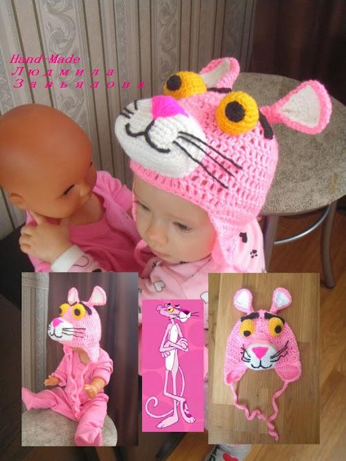 Вязание крючком детские шапки из мультфильмов Тигр