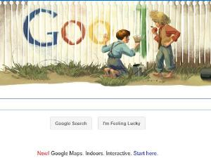 Google Doodle Mark Twain's 176th Birthday