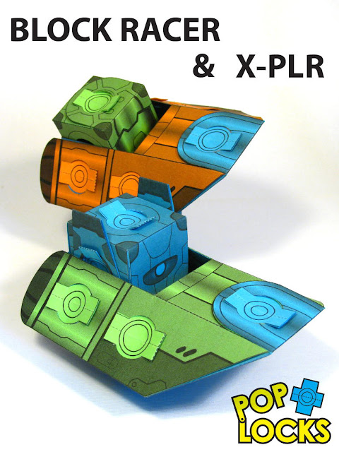 XPLR BLOCK RACER paper Toy