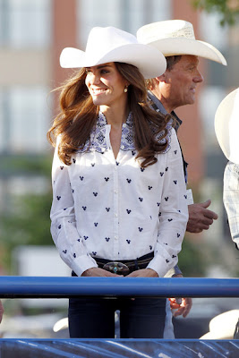 Royal Cowboy style of kate middleton