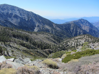View west from the south ridge of Pine Mt.