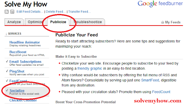 Auto Tweet Your Blog Posts Using Google Feedburner