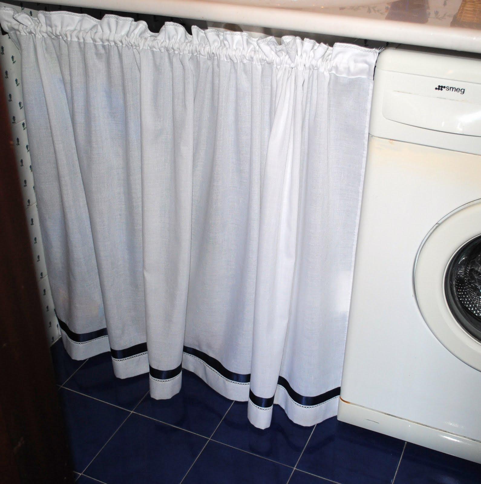 Magliamagia tendina sotto lavabo - Tendine per il bagno ...