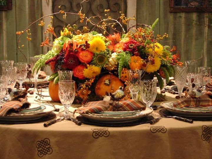 the french tangerine thanksgiving table