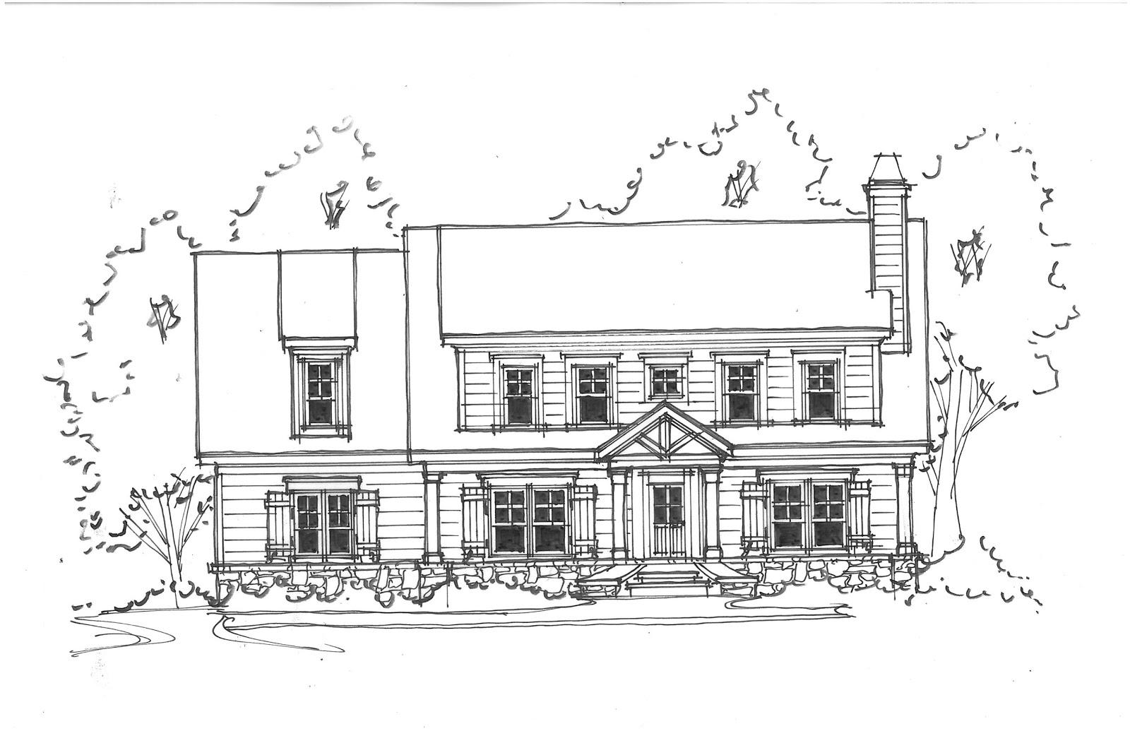 Elevation design sketch joy studio design gallery best for Minimalist house sketch