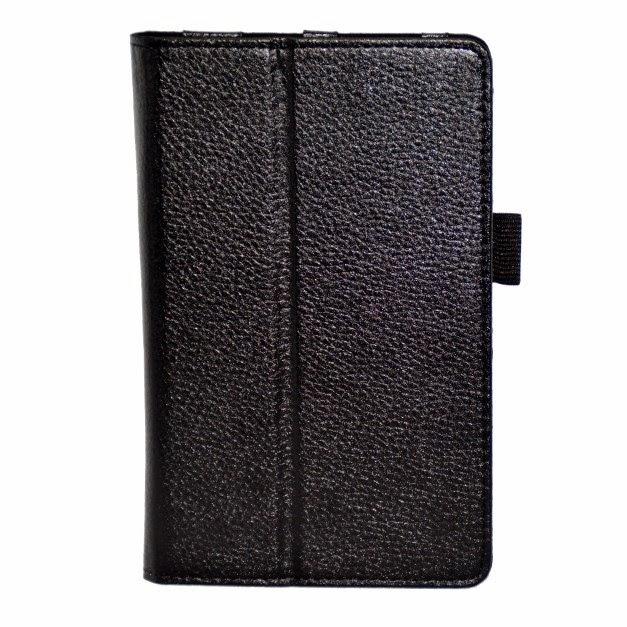 Leather-Case-HP-Slate-7-VoiceTab-Litchi-Grain-Folio-Stand-Black