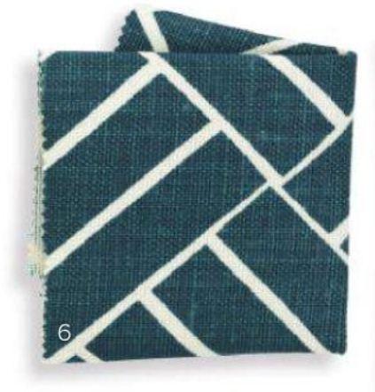 2013 Fabrics Pattern PLANTATION Linen in Teal
