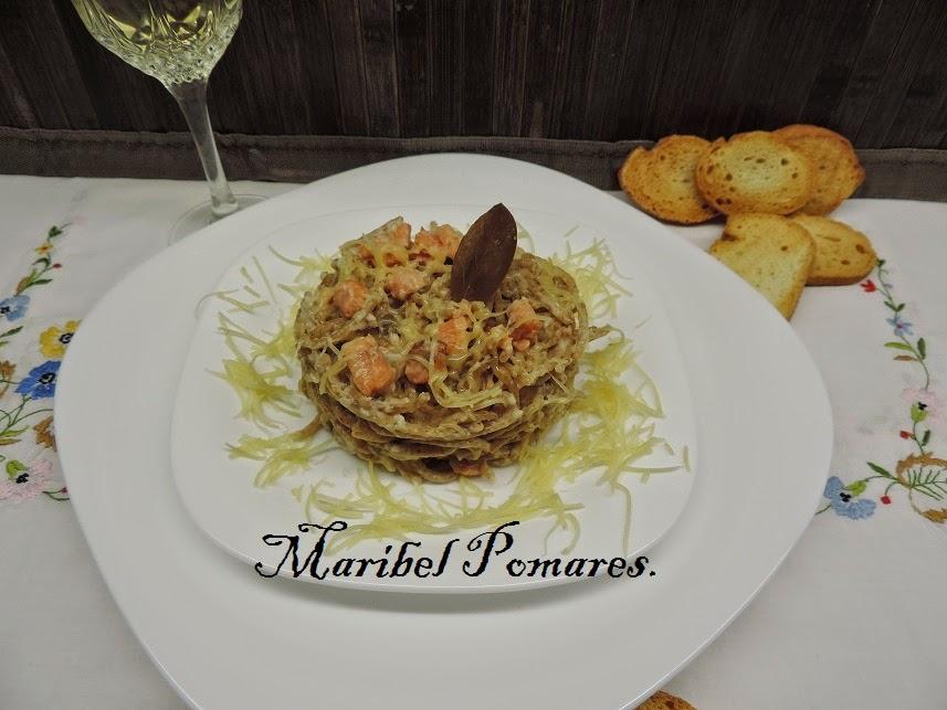 Espaguetis Integrales Con Salmón.