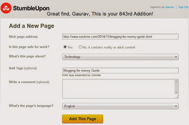 How to Add Websites to StumbleUpon : eAskme