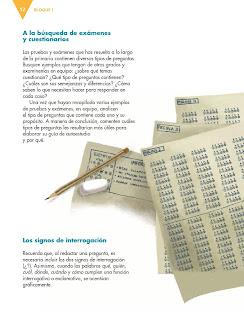 Apoyo Primaria Español 6to Grado Bloque I lección 1 Elaborar guías de autoestudio para la resolución de exámenes
