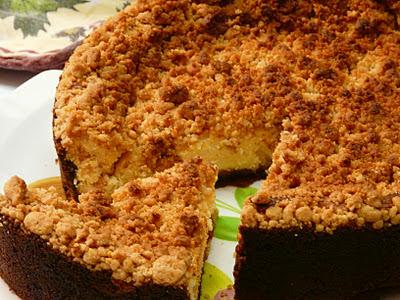 Cheesecake au sirop d'érable et crumble P1030126