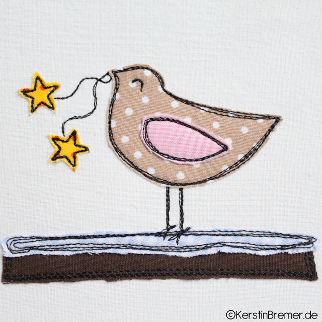Vogel Doodle Stickdatei von KerstinBremer.de