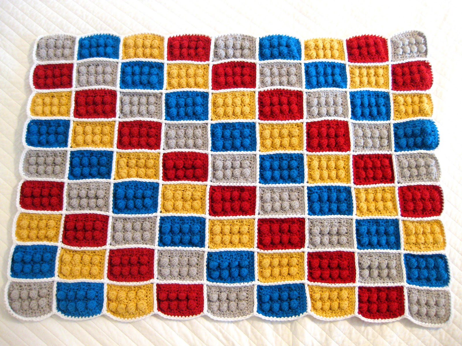Crochet Lego Blanket : All Things Bright and Beautiful: Crochet LEGO Blanket Tutorial