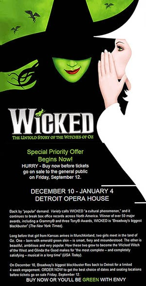 Pre-Sale Discount/WICKED