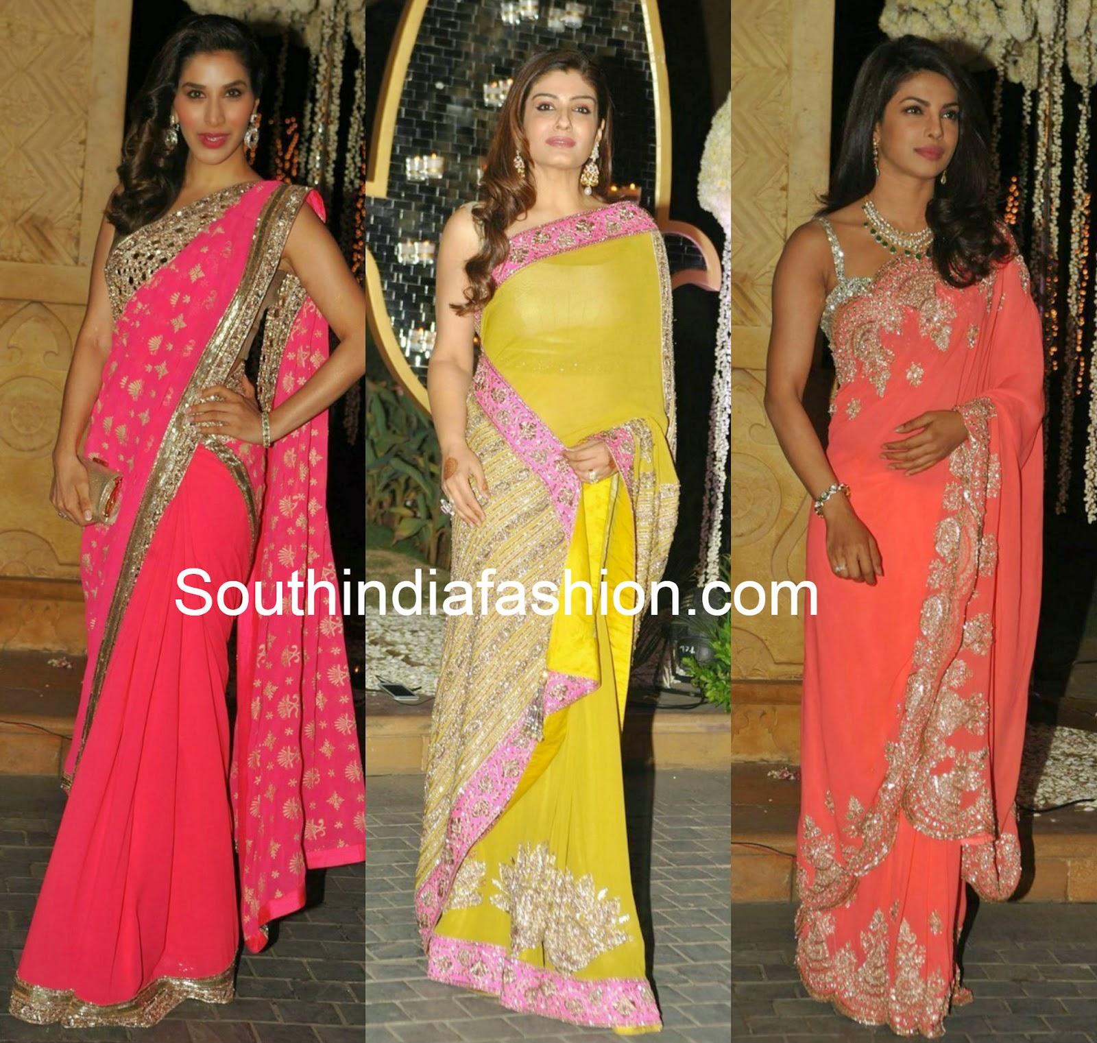 bollywood actress in manish malhotra sarees