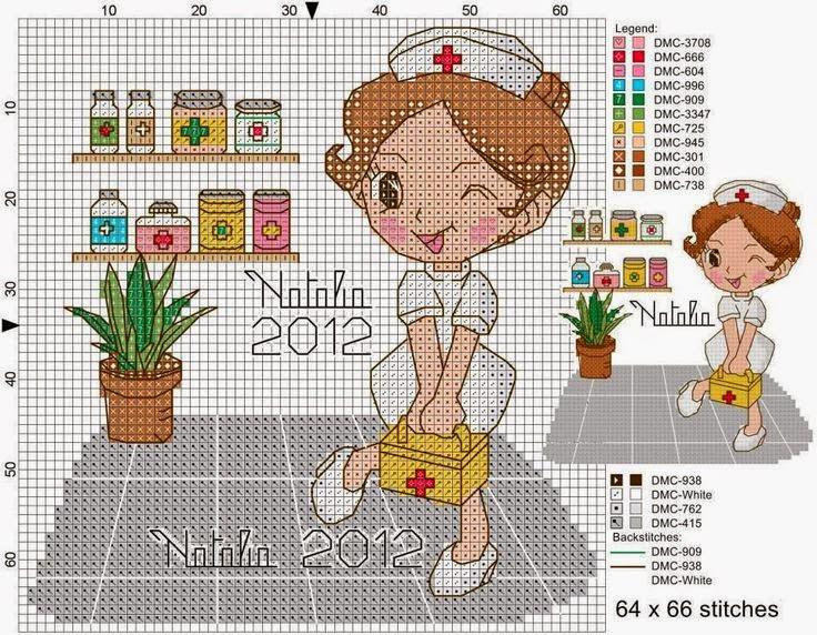 Схемы вышивки медсестры