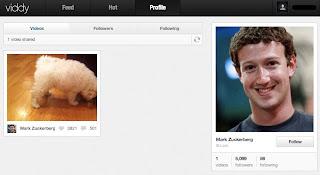 【本人未確認】マーク・ザッカーバーグがViddyに子犬の動画を投稿しました