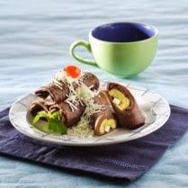 Resep Kue Dadar Gulung Cokelat Pisang