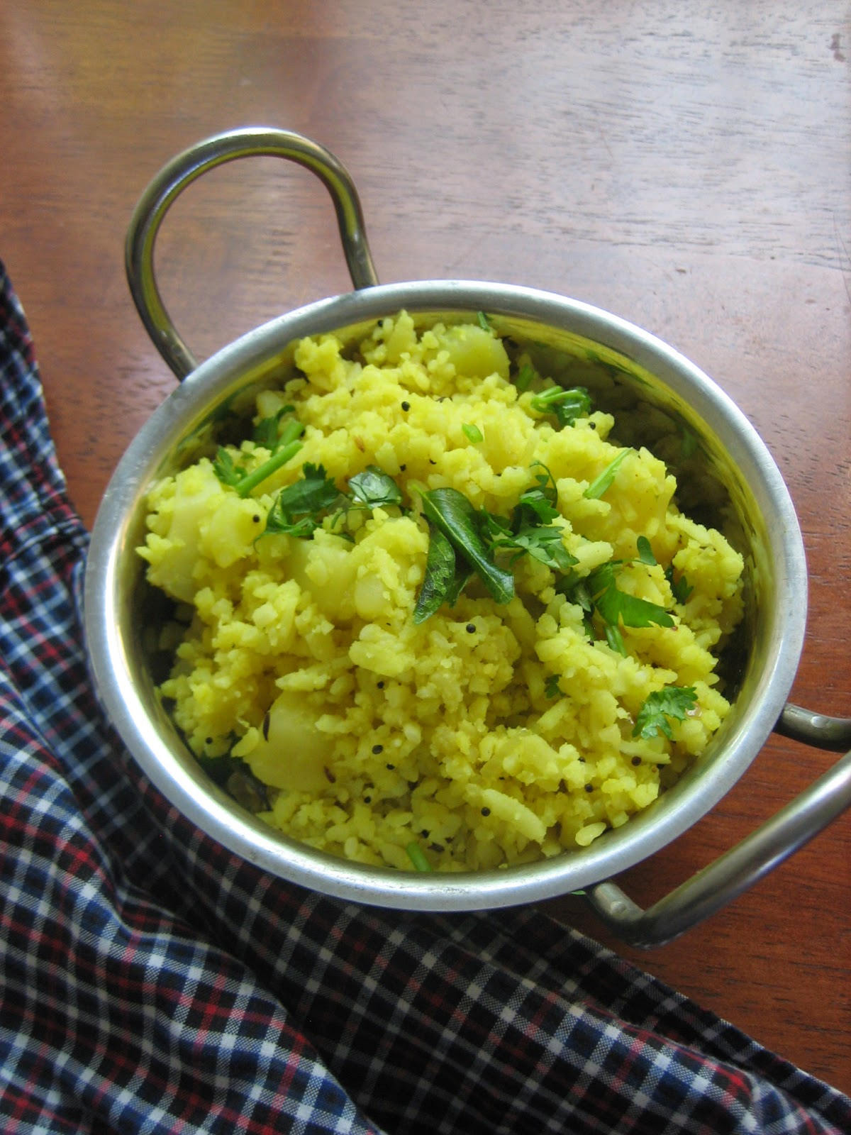 poha with potatoes4
