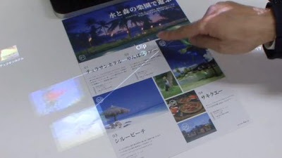 Fujitsu Develops a technology that turns paper into touch screen !