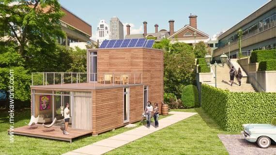 Modelo de casa modular contemporánea en Estados Unidos