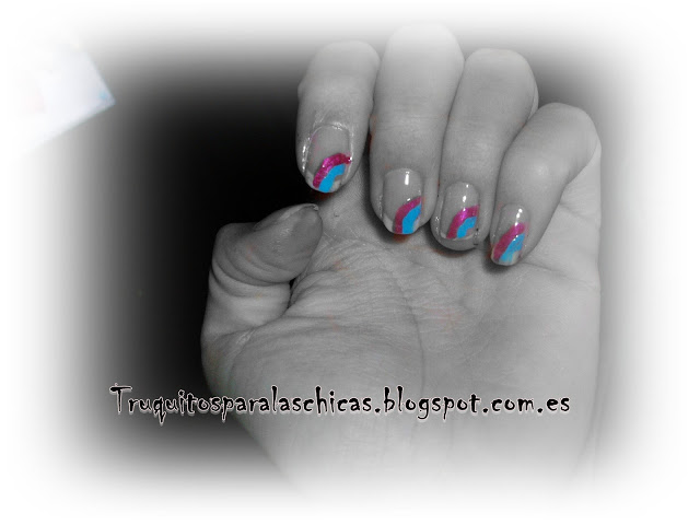 manicura rayas