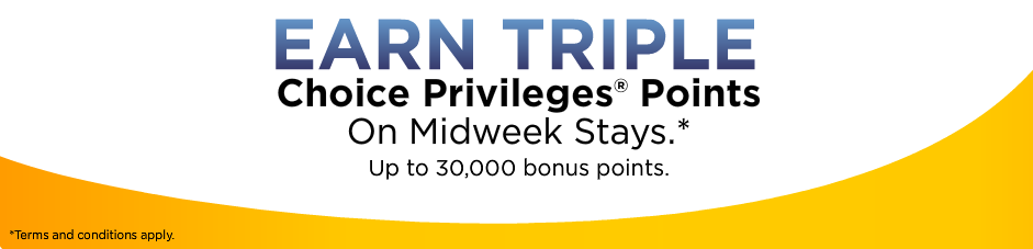 Choice Hotels Southwest Airlines Double Rapid Rewards Points + Promotion August 14 – November 15, Airberlin Topbonus members can earn 2, miles for Choice hotel stays until September 30, Choice Privileges Airberlin Topbonus Quintuple Miles July 1 – September 30