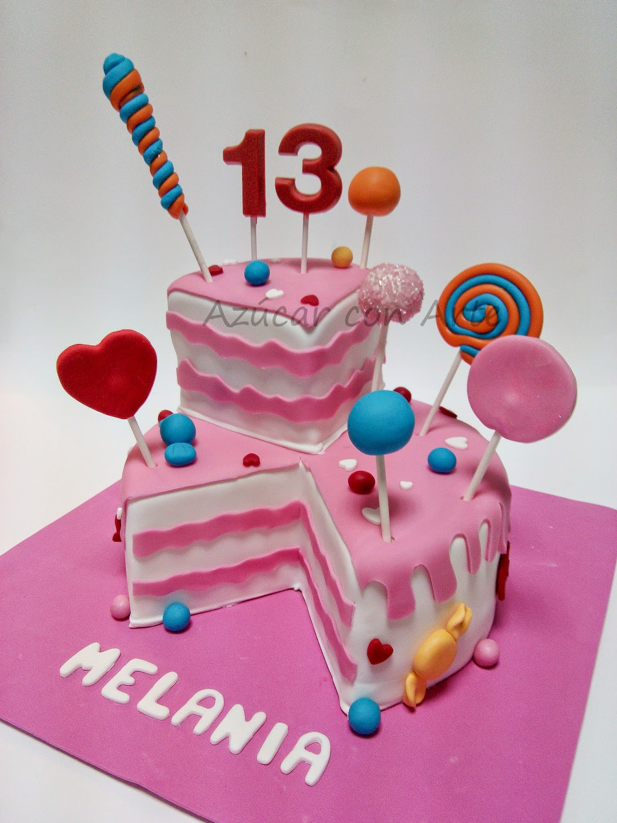 candy mel cake | azucar con arte
