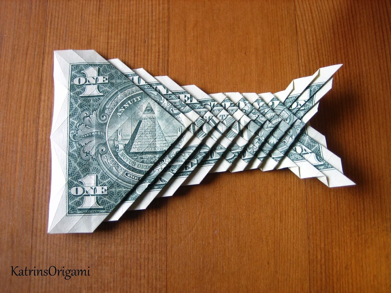 Origami die Kunst des Papierfaltens: Origami 1 $ Koi Fish - photo#17