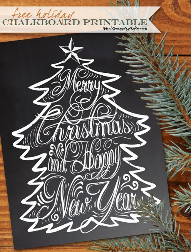 FREE Holiday Chalkboard Printable