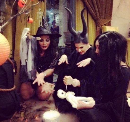 Kostum Halloween Que Haidar, Linda Jasmine, Fara Mendoza dan Juliana Evans