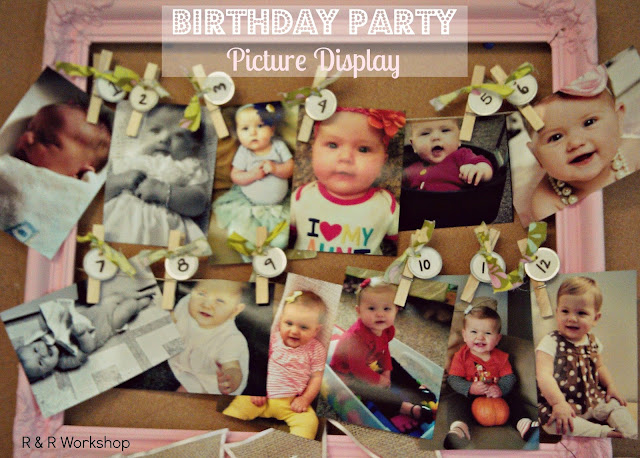Baby Gift Ideas For Best Friend : Someday crafts birthday party picture display