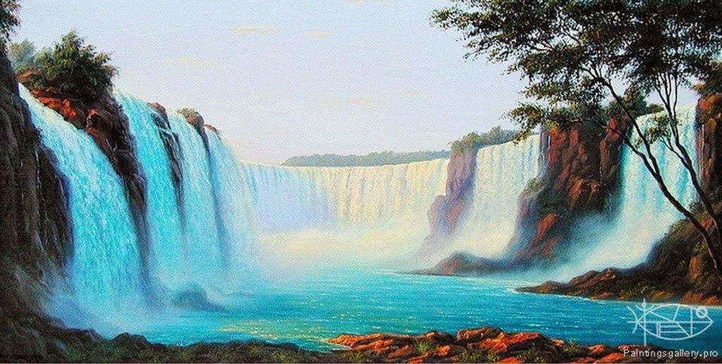 cuadros-de-paisajes-con-cataratas-pintados-al-oleo