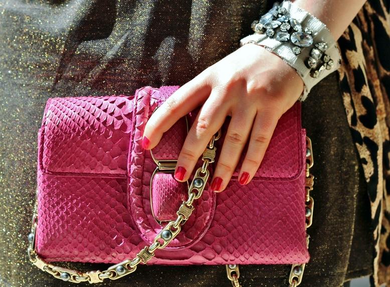 céline clutch croco pink, céline tasche krokoleder, céline bag pink