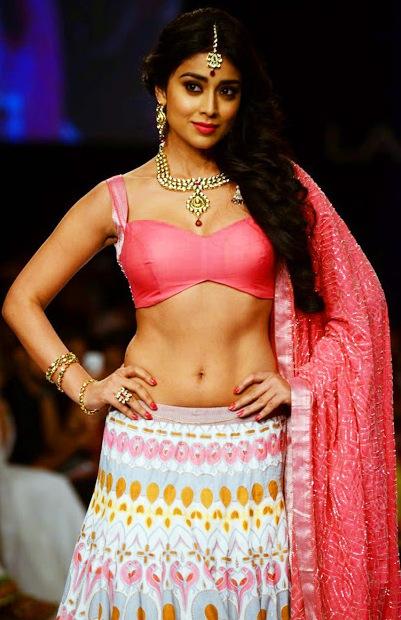 Actress Shreya Navel Show Photos At Lakme Fashion Week 2013