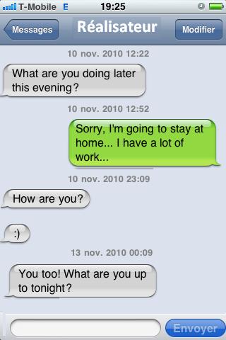 Rencontre sms texto