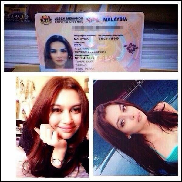 3 Gambar wanita jelita bernama lelaki di lesen memandu