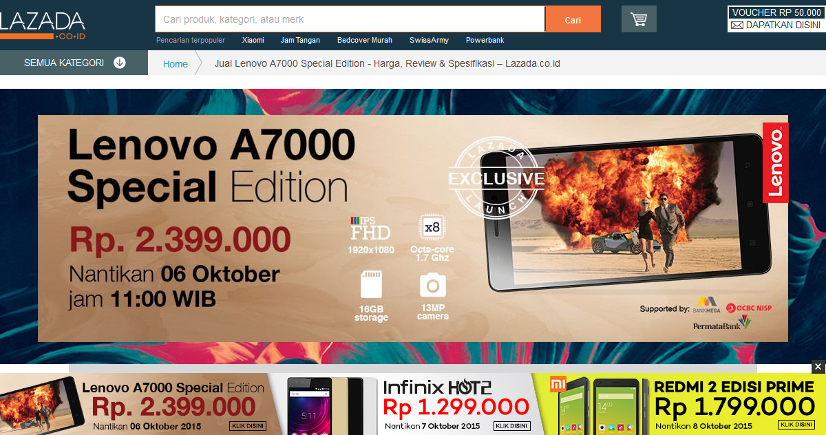 Flash Sale Lenovo A7000 Special Edition Lazada