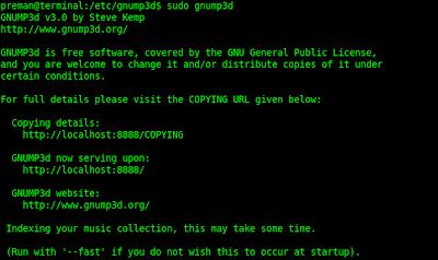 Start gnump3d server