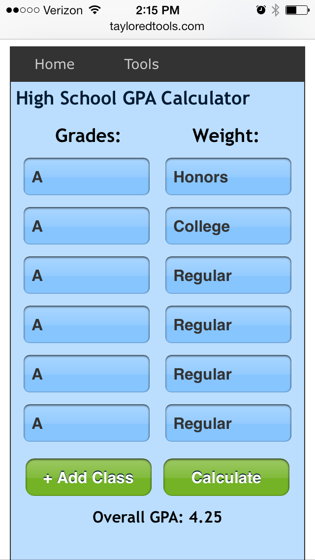 Calculate your high school GPA with our easy to use free online high school GPA calculator and stay on top of your high school study grades