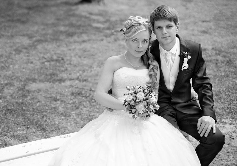 nespalvota vestuvių nuotrauka