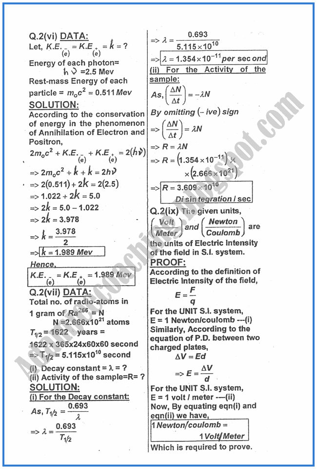 Physics-Numericals-Solve-2013-past-year-paper-class-XII