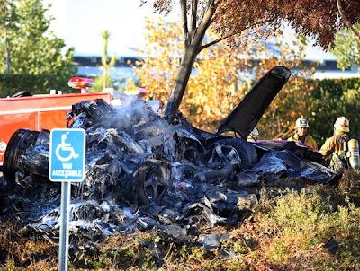 Foto Kecelakaan Aktor Fast Furious Paul Walker