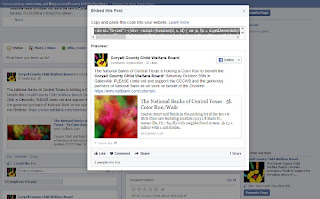 pop up box of sample of how an embedded facebook post looks like